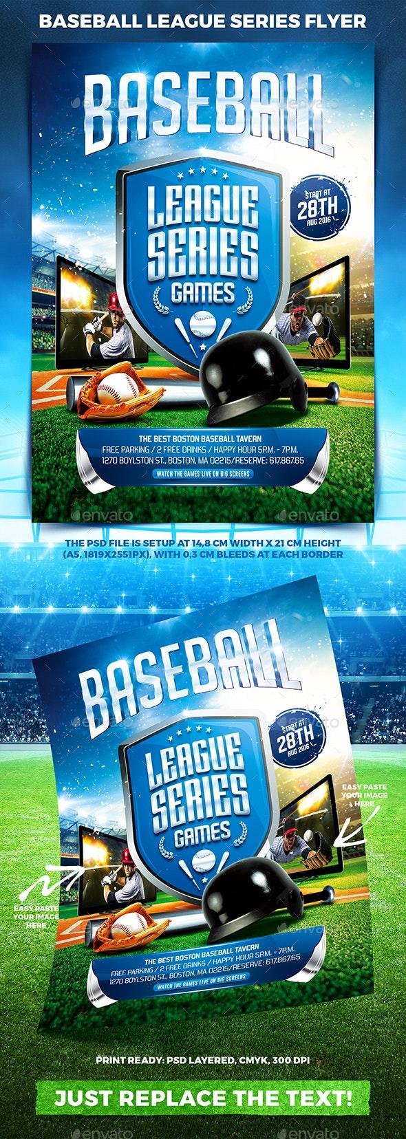 Baseball League Series Flyer vol.2 - Sports Events