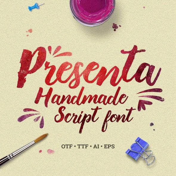 Presenta – Handmade Script Font - Script Fonts
