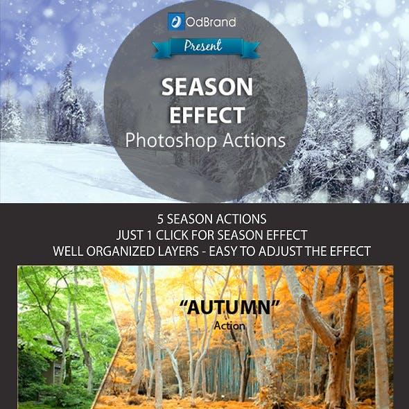 Season Effect Photoshop Action