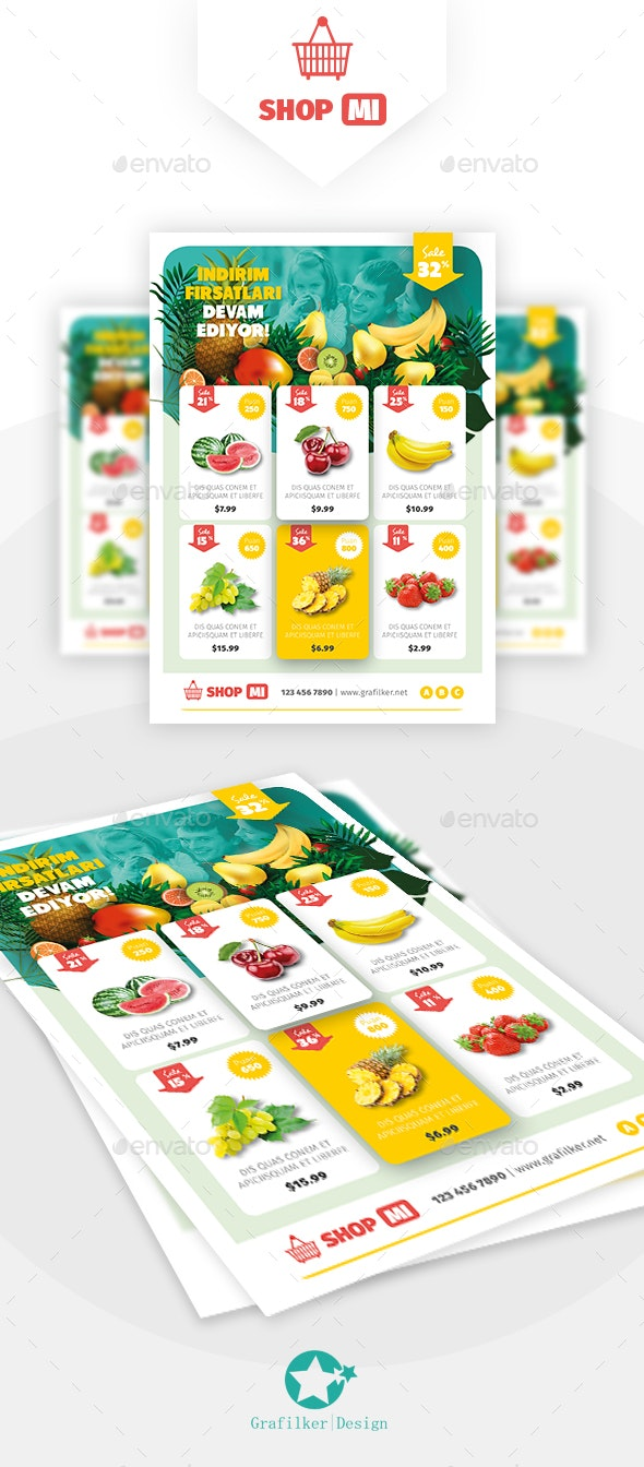 Supermarket Products Flyer Templates - Commerce Flyers