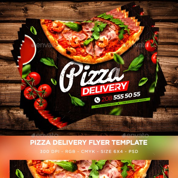 Pizza Delivery Flyer