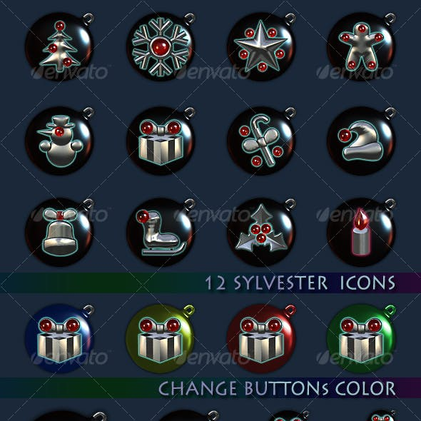 12 Steel Sylvester icons