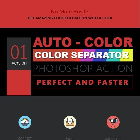 Auto Color Separator - Photoshop Action