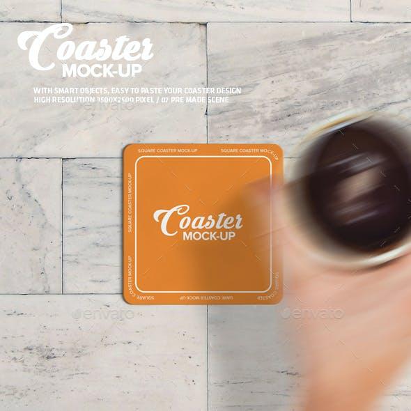 Square Coaster Mock-Up