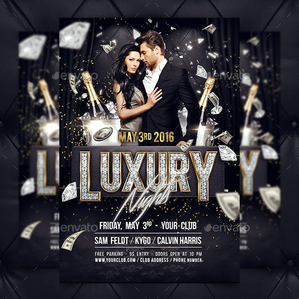 Luxury Nights Flyer Template (+ Facebook Timeline Cover)