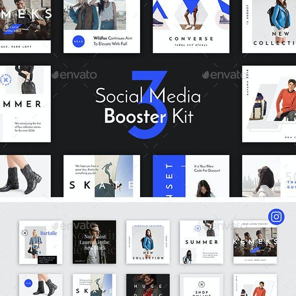 Social Media Booster Kit 3: Instagram, Twitter & Facebook Templates