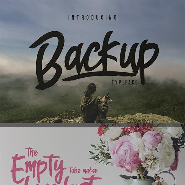 Backup Typeface