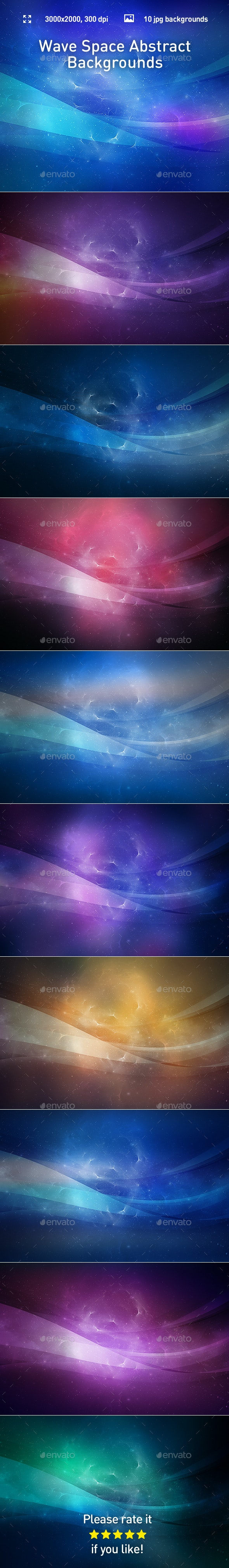 Wave Space Abstract Backgrounds - Abstract Backgrounds