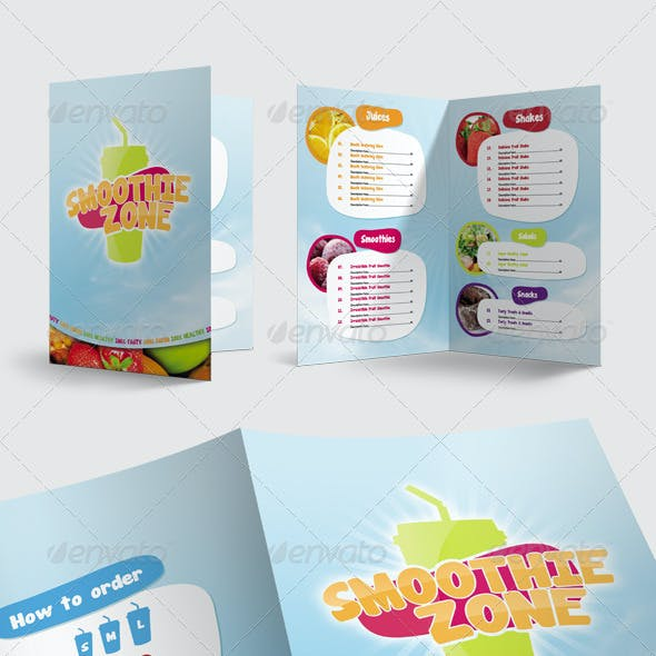 Juice and Smoothie Menu - Smoothie Zone