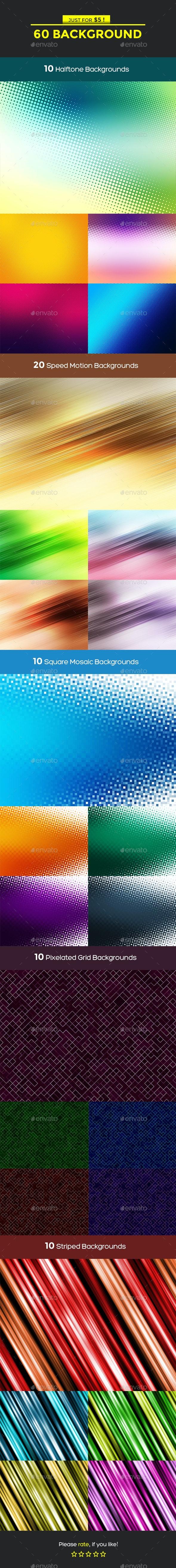 60 Background Bundle - Backgrounds Graphics