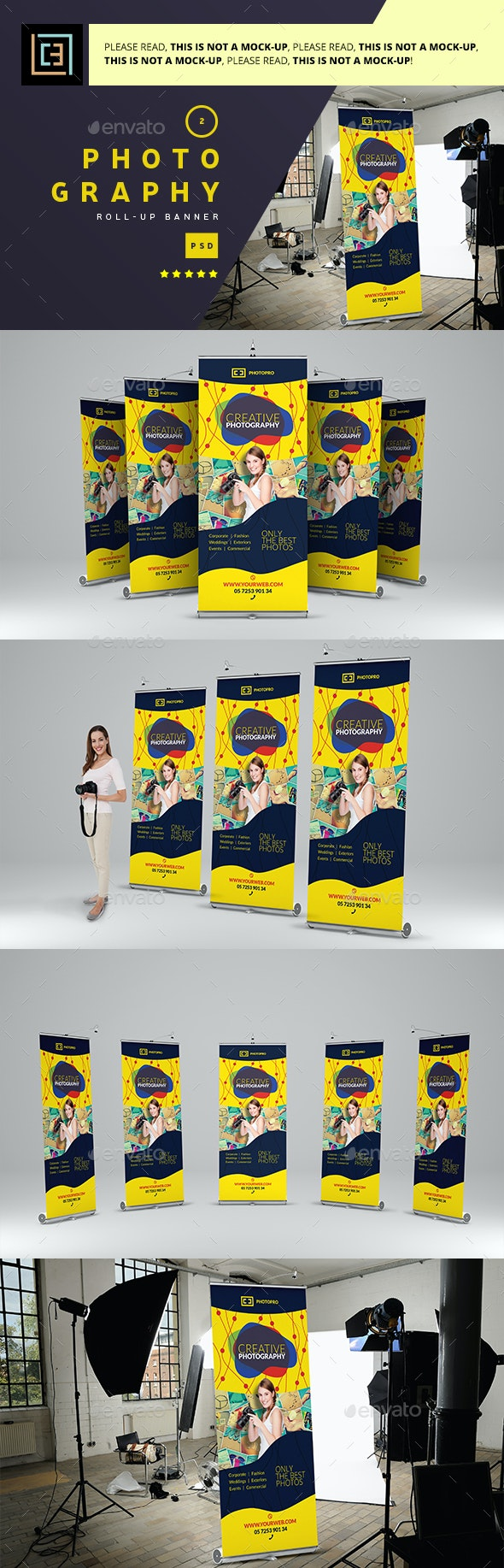 Photography - Roll-Up Banner 2 - Signage Print Templates