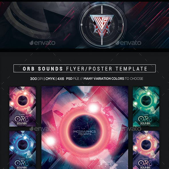 Orb Sounds Flyer/Poster Template