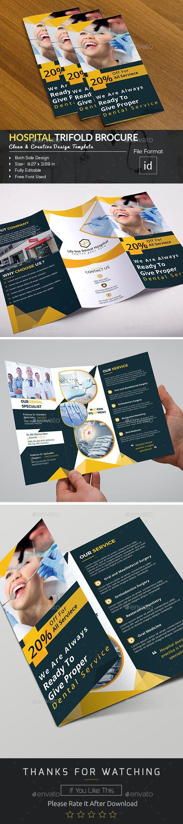 Hospital Trifold Brochure Template - Brochures Print Templates