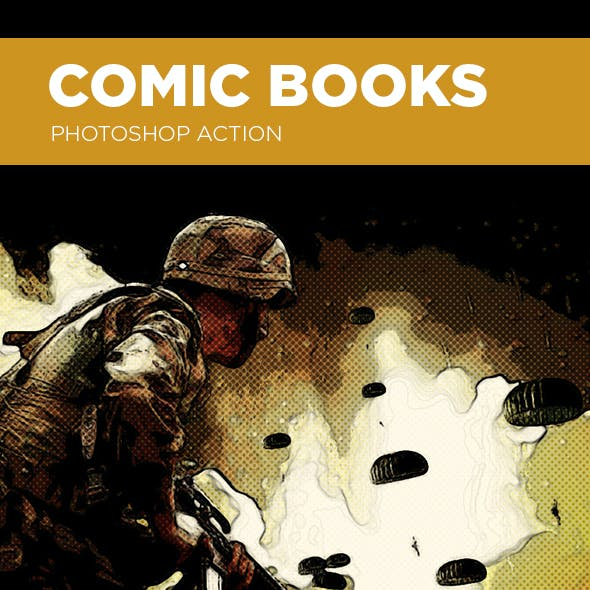 Comic Books Photoshop Action