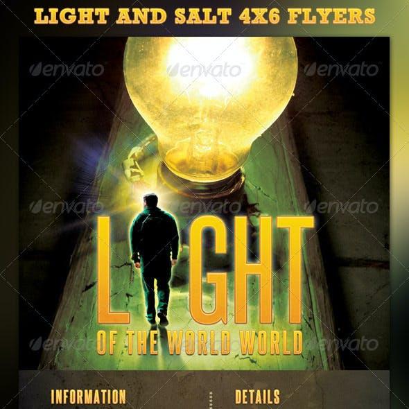Light and Salt Sermon Church Flyer Template