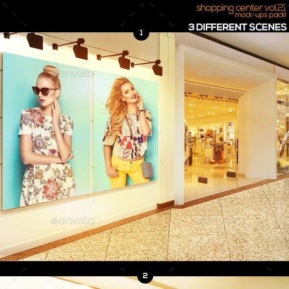 Shopping Center Vol.21 Mock Ups Pack
