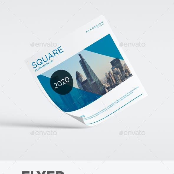 Flyer Square Mock-Up