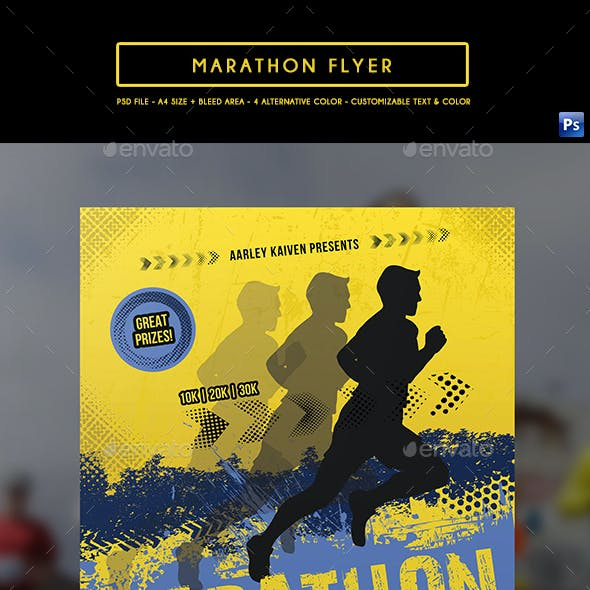 Marathon Event Flyer