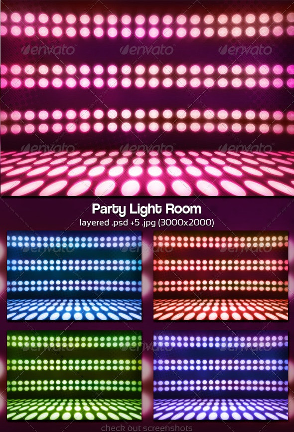 Party Light Room - Abstract Backgrounds