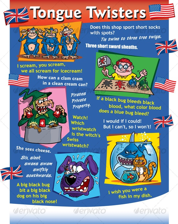Tongue Twisters UK - Miscellaneous Characters