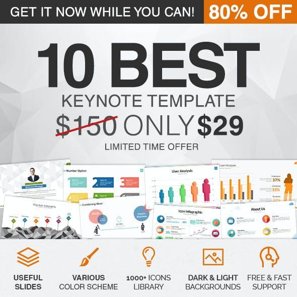 10 in 1 Keynote Template Bundle