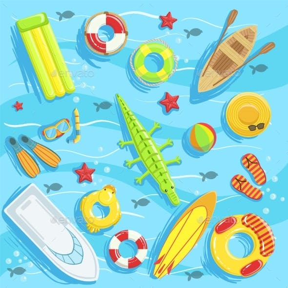 Water Toys And Other Objects From Above