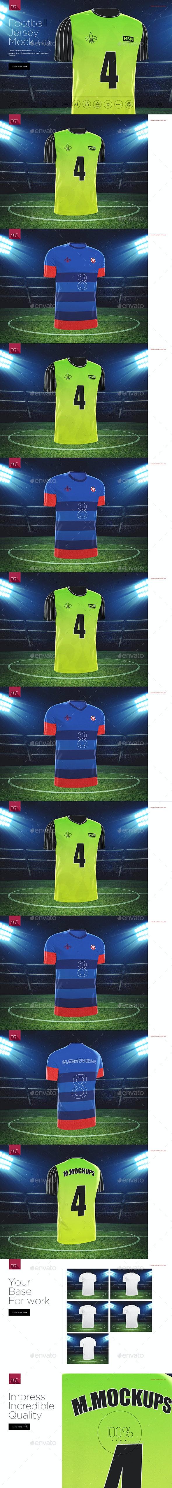 Football Jersey Mock-up - T-shirts Apparel