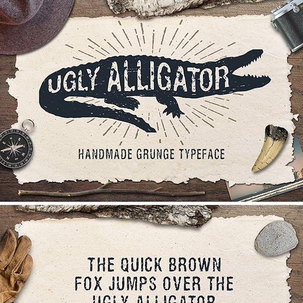 """Grunge Typeface """"Ugly Alligator"""""""