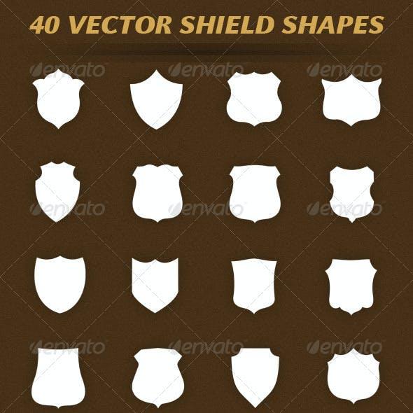 40 Vector Shield Shapes