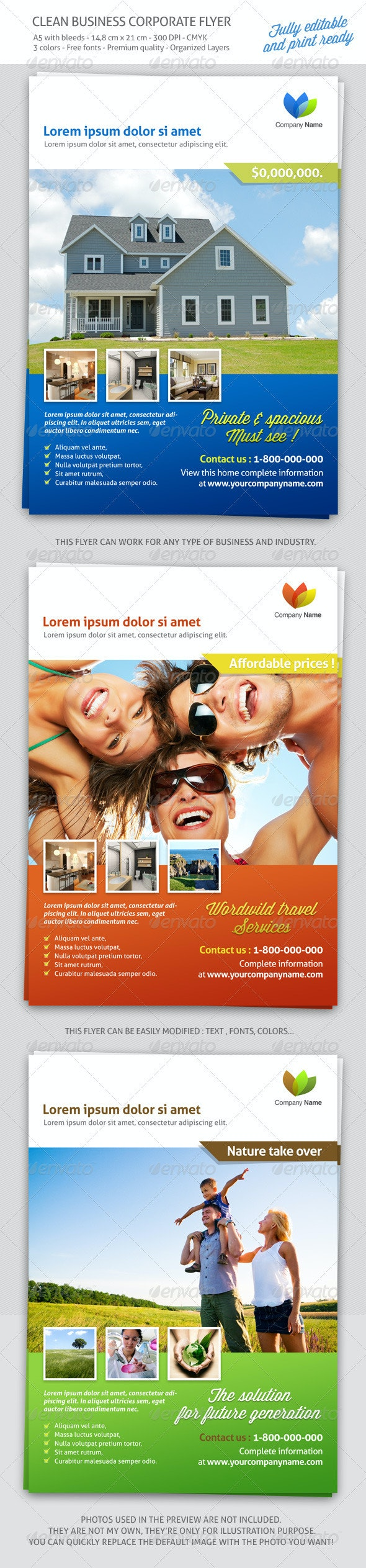 Clean Business Corporate flyer - Corporate Flyers