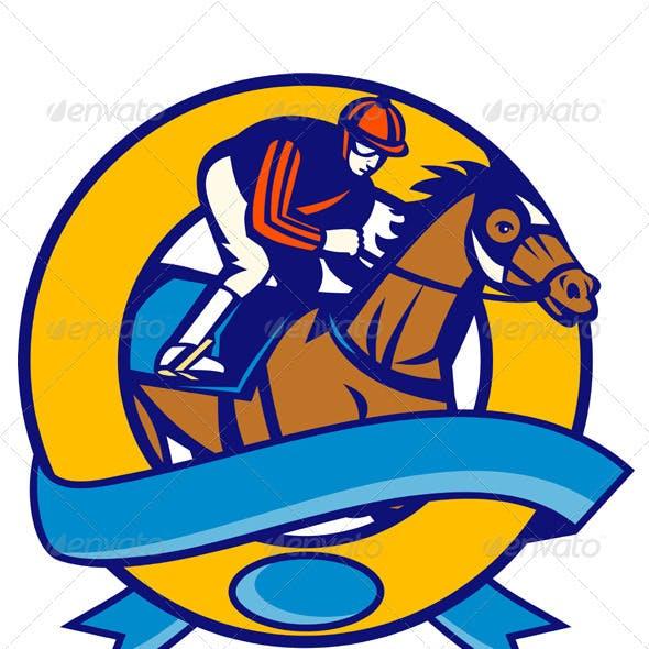 Jockey And Horse Racing Side