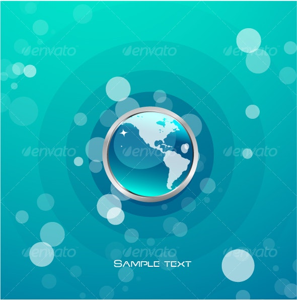 Abstract design with blue globe - Technology Conceptual