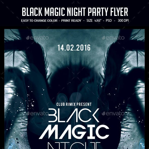 Black Magic Night Party Flyer