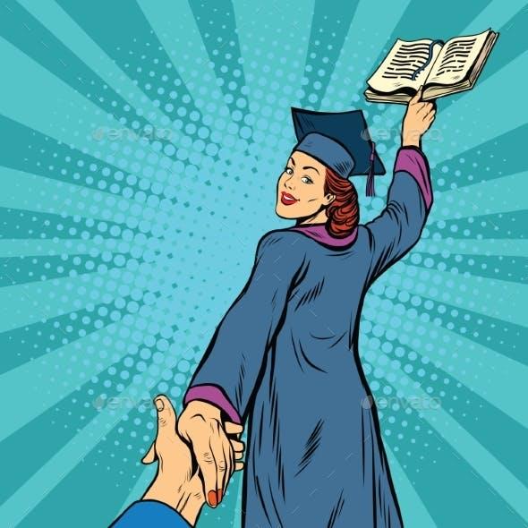 Follow Me, a Woman Student Graduate Knowledge