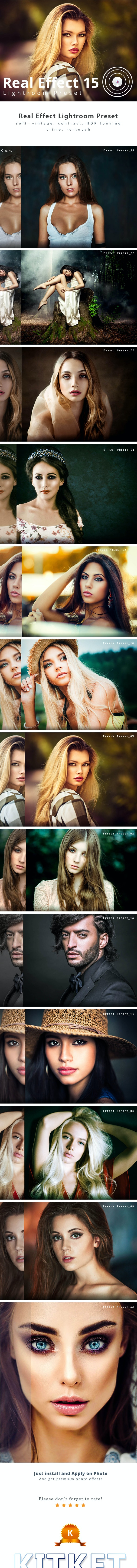 Real Effect 15 Photography Lightroom Preset - Portrait Lightroom Presets