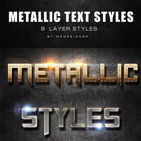 Metallic Text Styles V.4