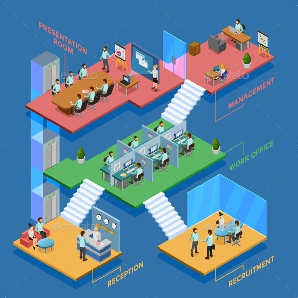 Isometric Office Illustration