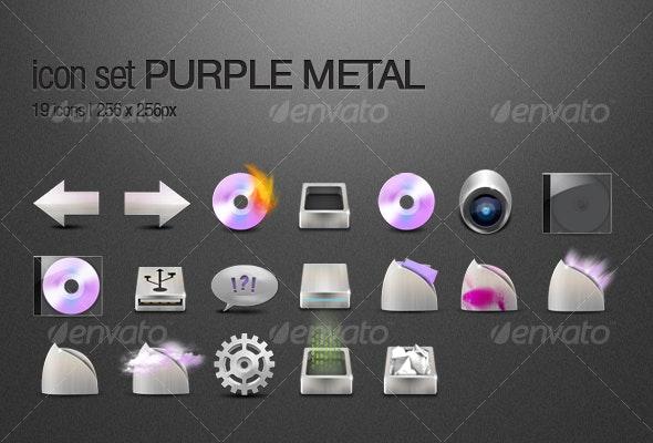 Purple Metal - Web Icons