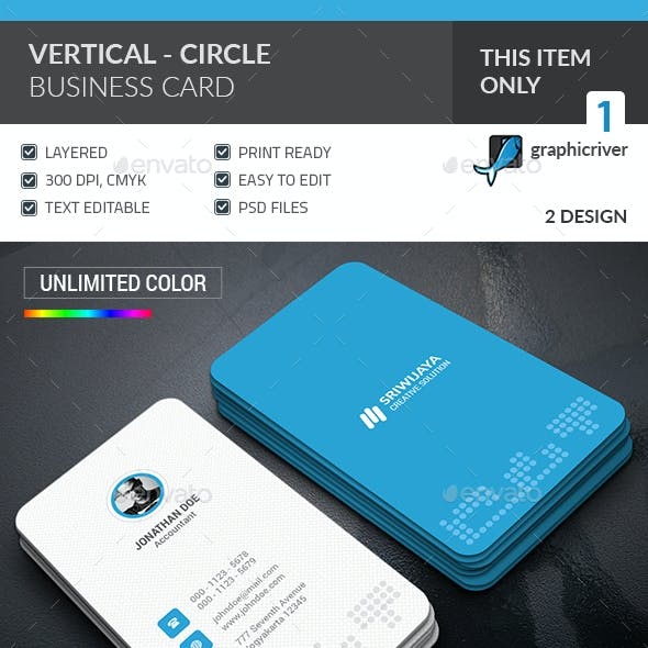 Vertical Circle Business Card