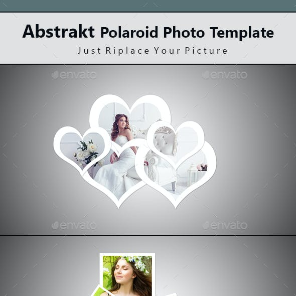 Abstrakt Polaroid Photo Template