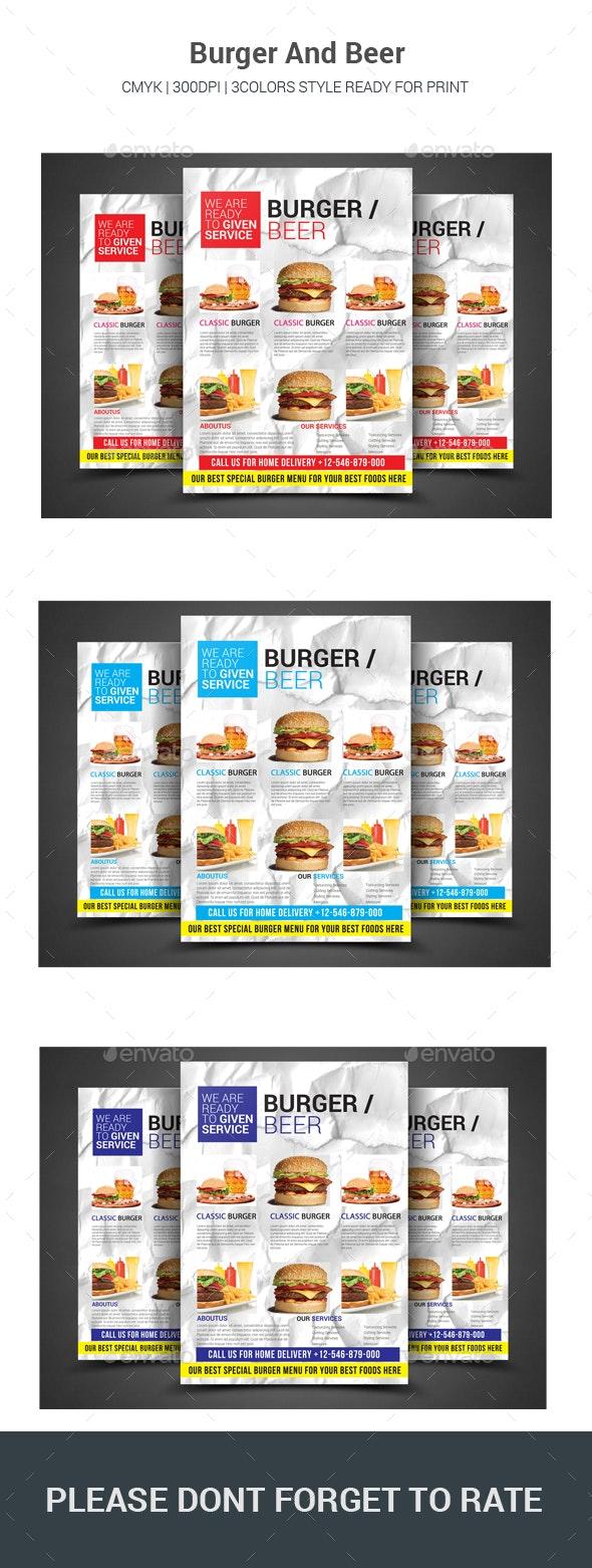 Beer/Burger Flyer - Restaurant Flyers