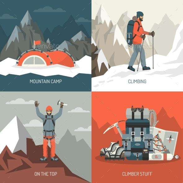 Mountaineering Design Concept - Travel Conceptual