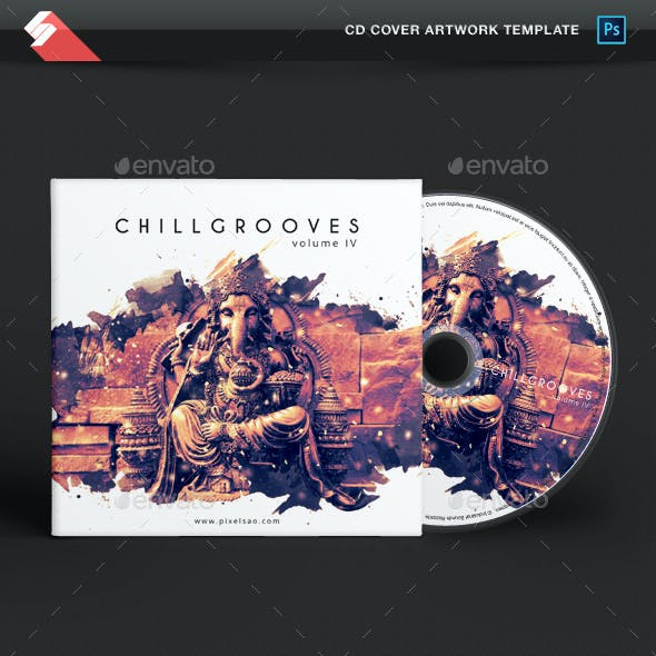 Chill Grooves vol.4 - Chillout CD Cover Artwork Template