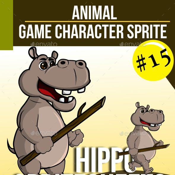 Game Asset : Hippo