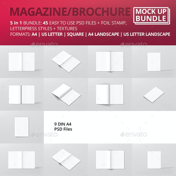Brochure / Magazine Mock-Up Bundle