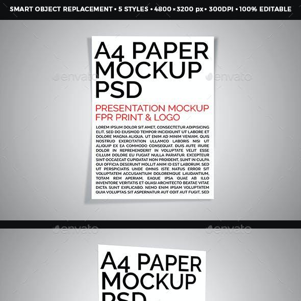 A4 Paper / Poster / Flyer Mockup Design Vol - 3