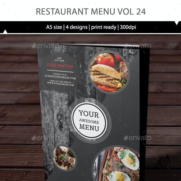 Restaurant Menu Vol 24