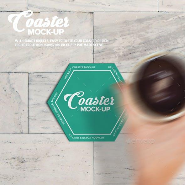 Hexagon Coaster Mock-Up