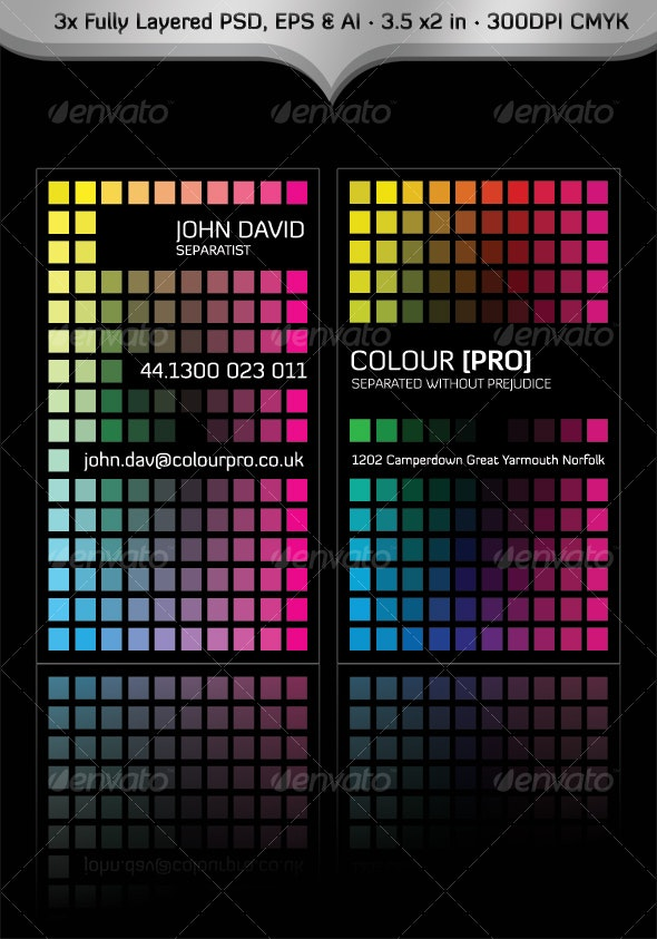 Colour Pro Business Card - Creative Business Cards