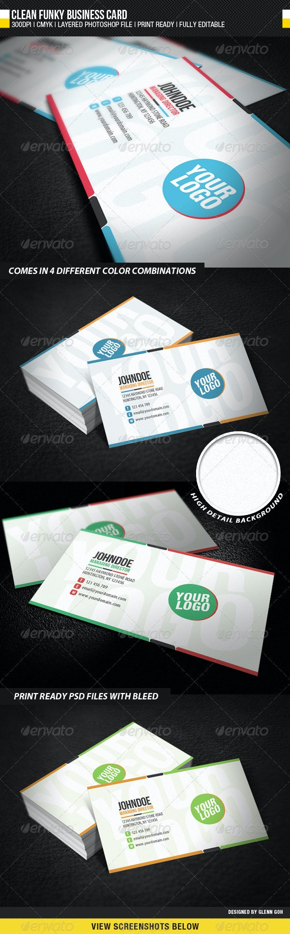 Clean Funky Business Card - Creative Business Cards